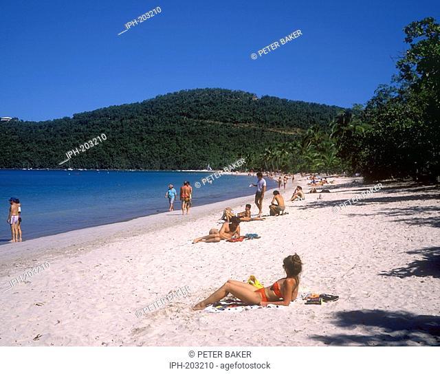 St Thomas - Tropical beach scene on Magens Bay
