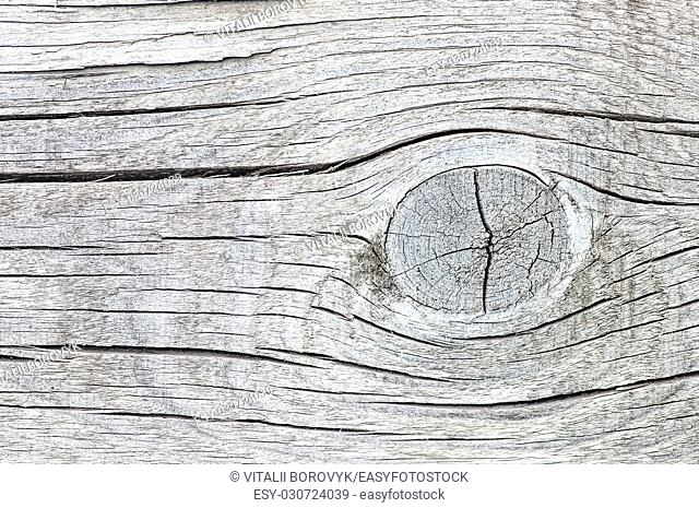 Abstract background old cracked wood with knots