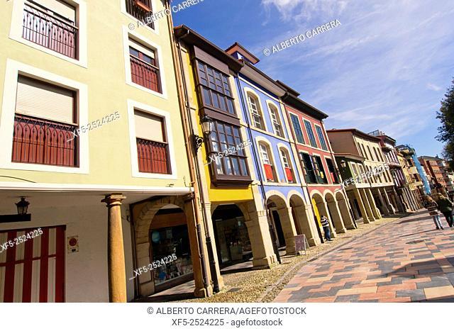 Typical Architecture, Old Village, Avilés, Asturias, Spain, Europe