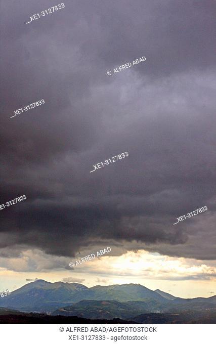storm clouds, Basilicata, Italy