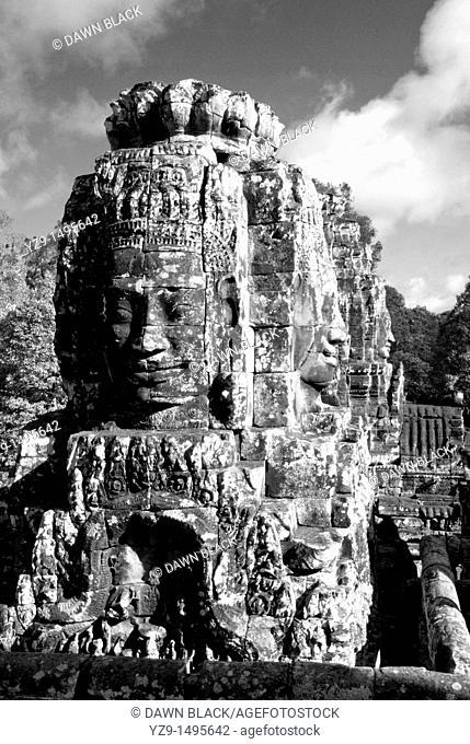 Bayon Faces , The Bayon , Angkor Thom , Siem Reap , Cambodia