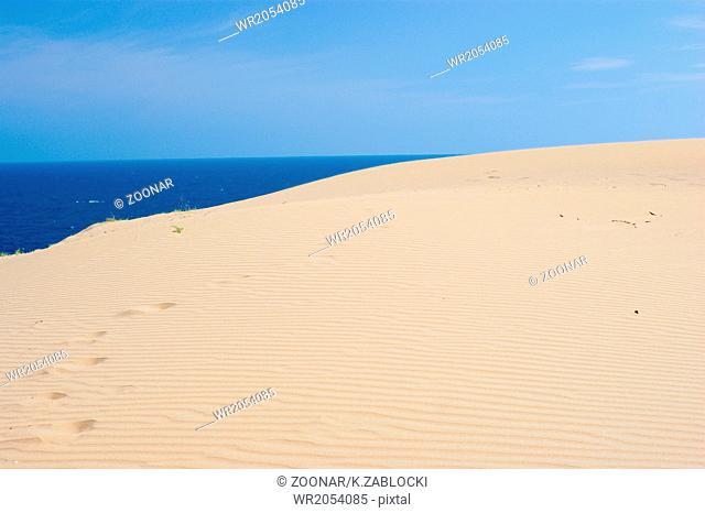 sand, sea and blue sky