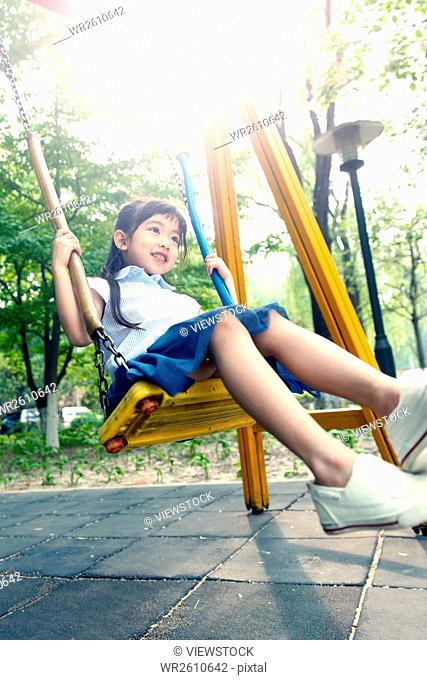 Little girl swing