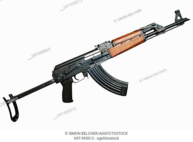 Kalashnikov AK47 Automatic Assault Rifle Agianst a White Background