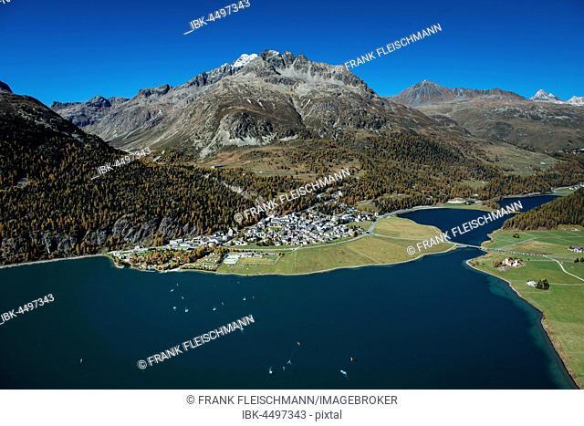 Silvaplana, Julier pass, Maloja, Piz Julier, Piz Polaschin, Piz Albana, Silvaplana, Engadin, Canton of Grisons, Switzerland
