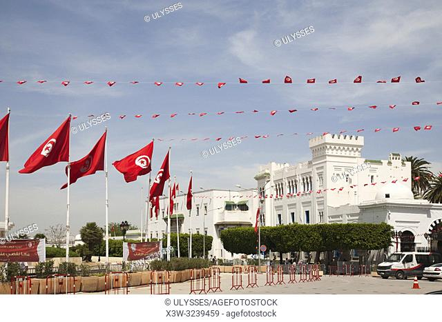 Government building, Place de la Kasba, Tunis, Tunisia, Africa
