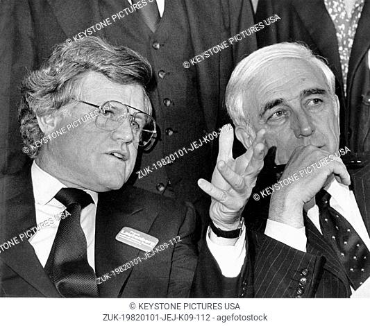 Jan. 01, 1982 - Boston, Massachusetts, U.S. - File Photo: circa 1982. TED KENNEDY. The Kennedy family is a prominent Irish-American family in American politics...