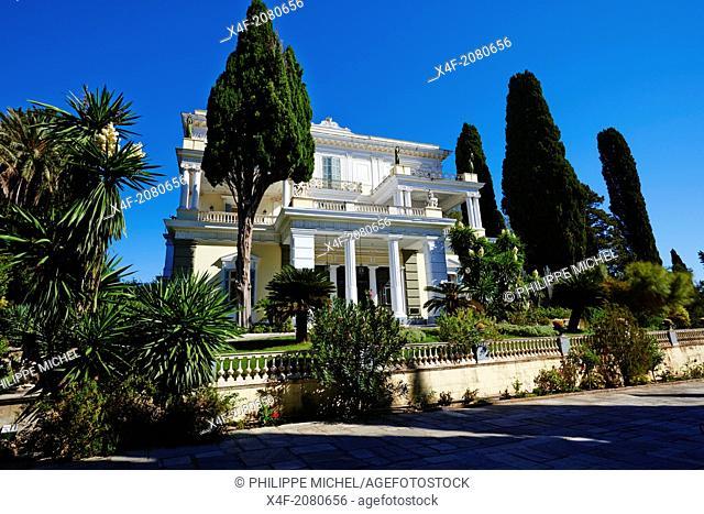 Greece, Ionian island, Corfu island, Achilleion palace of Empress Elisabeth of Austria well know as Sissi