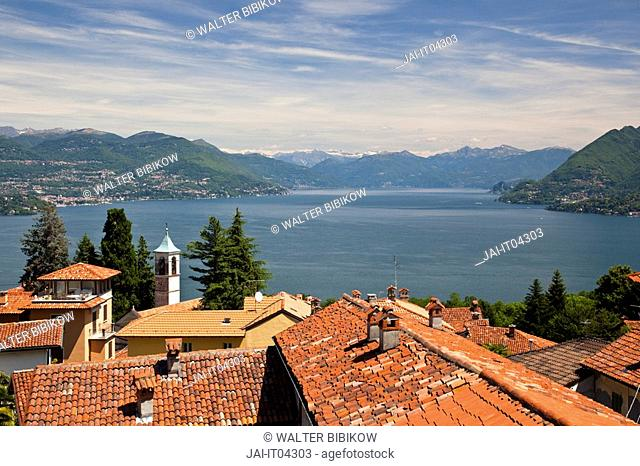 Italy, Piedmont, Lake Maggiore, Gignese, hilltop village above Stresa