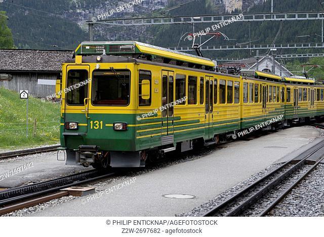The Wengernalp railway is a 19. 091 kilometres long rack railway line in Switzerland. It runs from Lauterbrunnen to Grindelwald via Wengen and Kleine Scheidegg