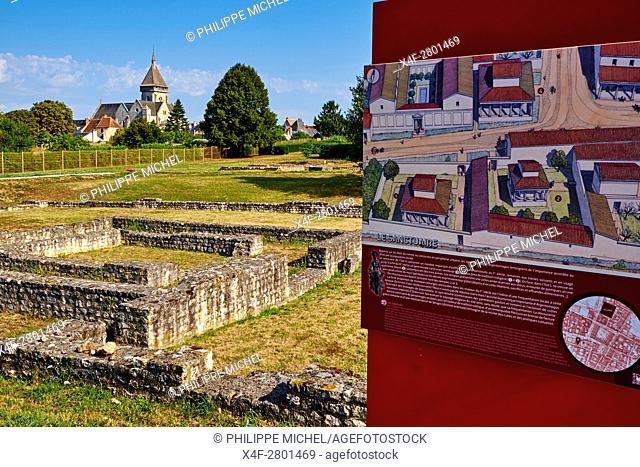 France, Indre, Argenton-sur Creuse, Saint-Marcel, Argentomagus, Roman-Gallo site