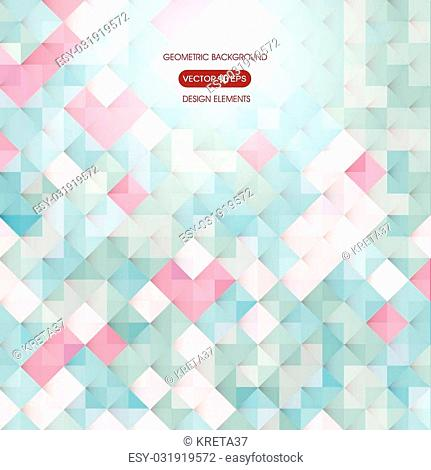 Abstract colored background with elements of geometry, square