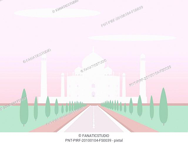 Facade of a mausoleum, Taj Mahal, Agra, Uttar Pradesh, India