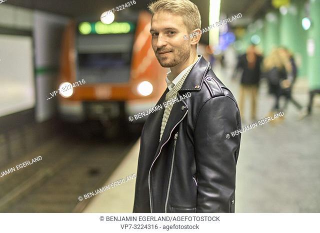 man in underground, public transportation