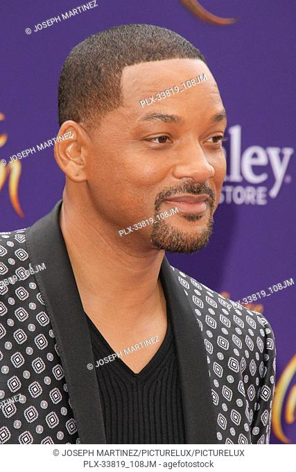 "Will Smith at The World Premiere of Disney's """"Aladdin"""" held at El Capitan Theatre, Hollywood, CA, May 21, 2019. Photo Credit: Joseph Martinez / PictureLux"