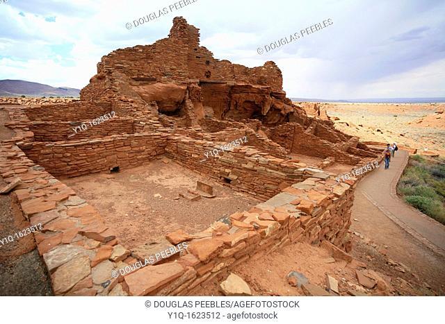 Wupatki Pueblo, Wupatki and Sunset Crater National Monuments, Arizona, USA
