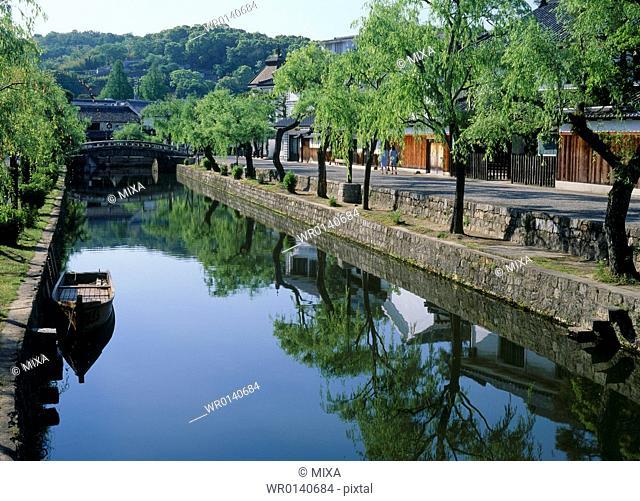 Kurashiki River, Kurashiki, Okayama, Japan