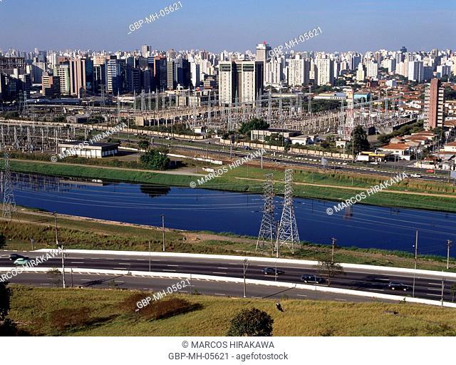 Rio Pinheiros, United Nations Avenue, Brooklin Novo, Sao Paulo, Brazil