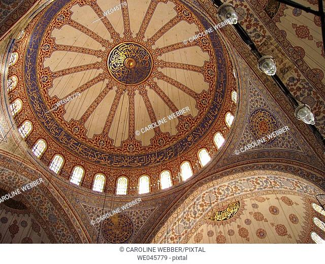 Ceiling of the Blue Mosque, Istanbul