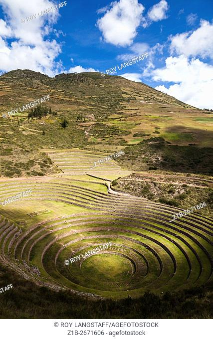 Incan agricultural terraces at Moray, Peru