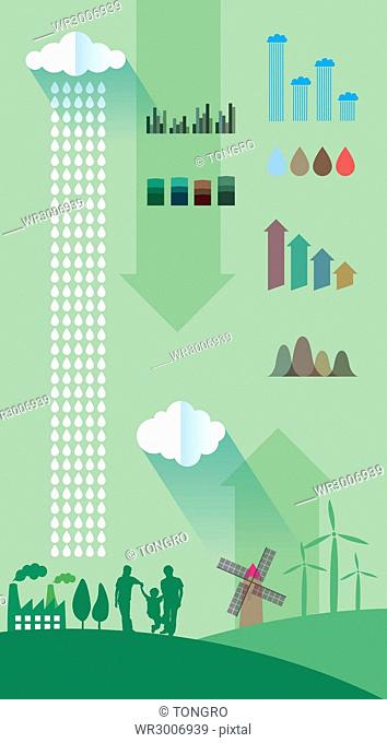 Infographic illustration related to environmental protection