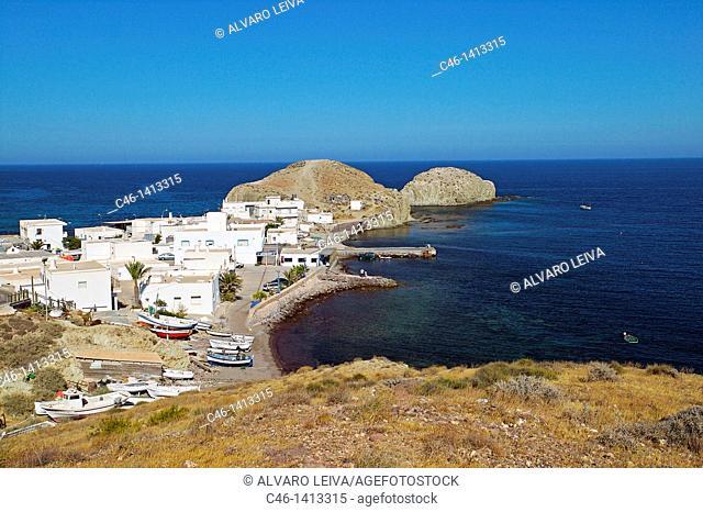 Isleta del Moro fishing village  Natural Reserve of Cabo de Gata-Níjar  Almería province  Andalusia  Spain
