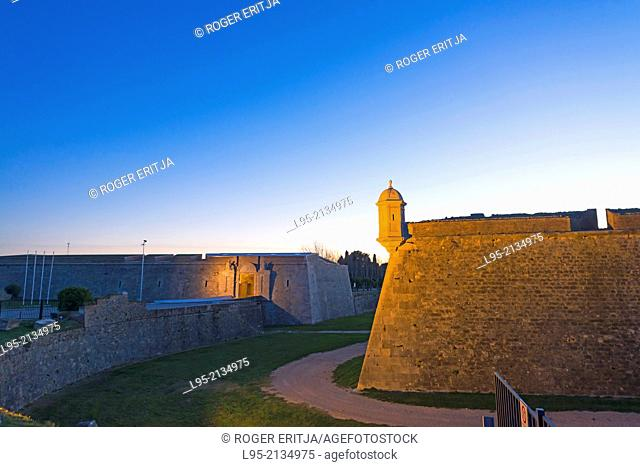 Military fortified castle of Sant Ferran, Figueres, Spain