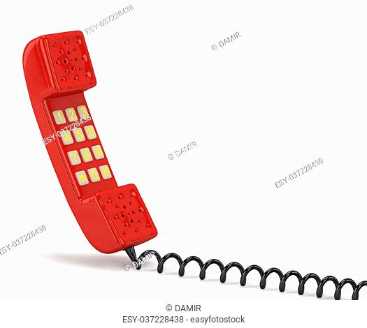 Handset. 3D image. On a white background