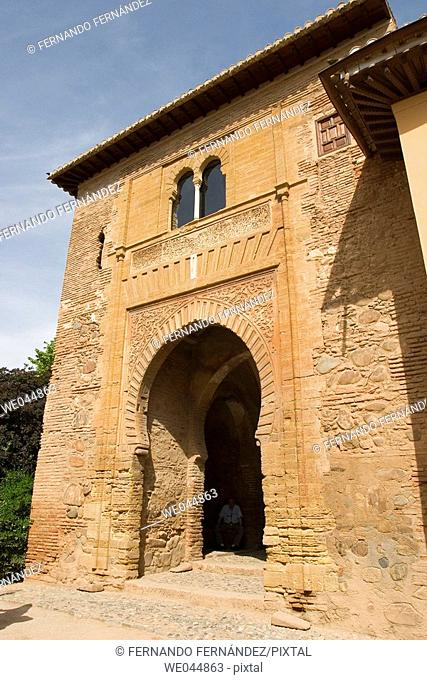 Puerta del Vino, Alhambra. Granada. Spain