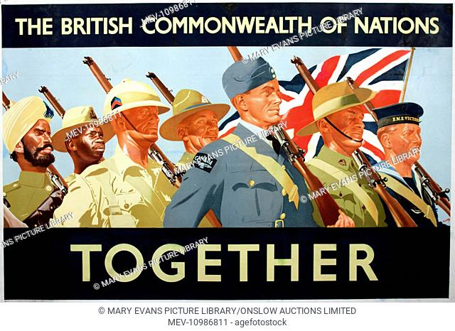 WW2 poster, The British Commonwealth of Nations Together
