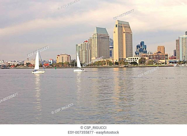 Two sailboats, San Diego California.-2