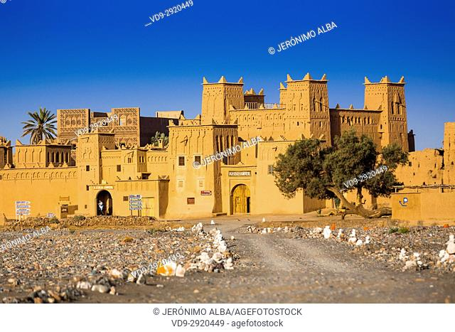 Hotel Kasbah Amridil, Dades Valley, Skoura oasis Palm Grove. Morocco, Maghreb North Africa