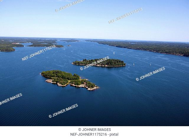 Aerial view of small islands