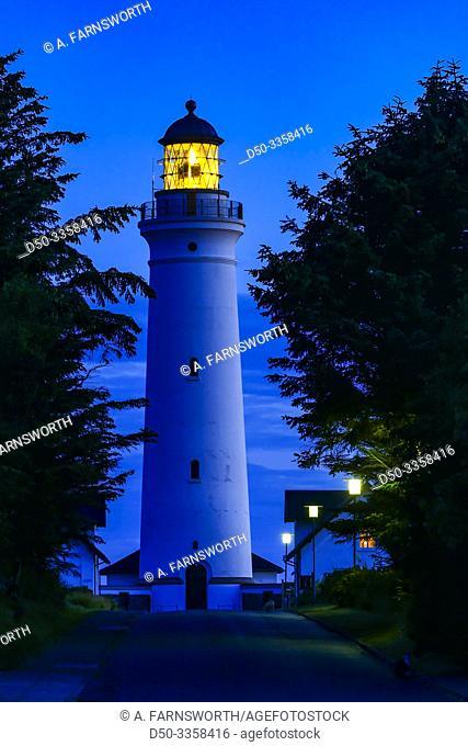 Hirtshals Denmark The Hirtshals lighthouse built in 1863