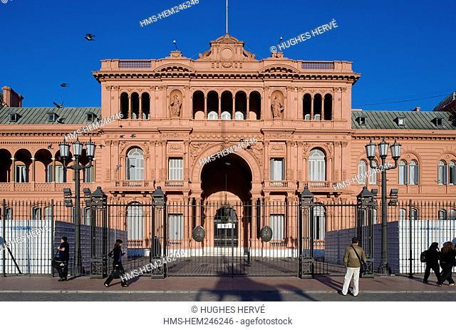Argentina, Buenos Aires, Plaza de Mayo May Square, La Casa Rosada, headquarters of the Argentine presidency