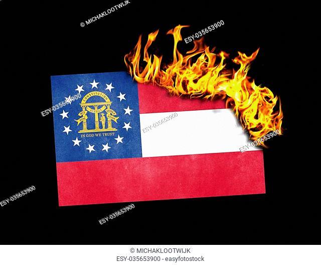 Flag burning - concept of war or crisis - XXXX