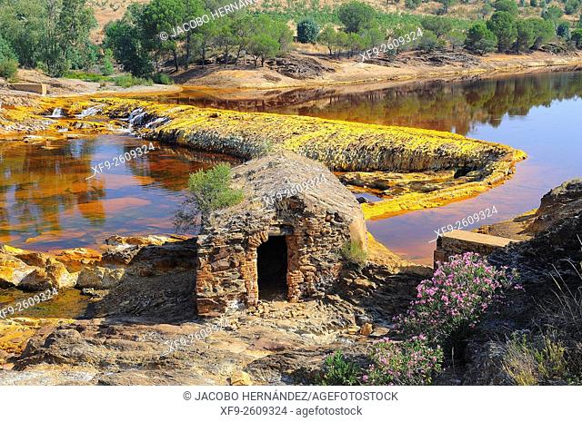 Watermill.Tinto river.Huelva province.Andalusia.Spain