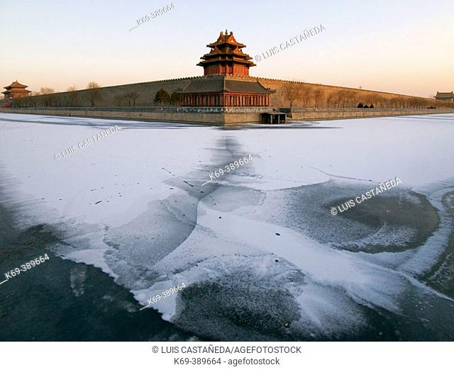 The Forbidden City in Winter. Beijing. P.R. of China