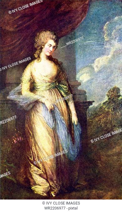 Thomas Gainsborough (died 1788) was an English portrait painter and landscape artist. He was a founding member of England's Royal Academy of the Arts