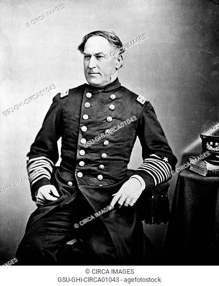 Admiral David G. Farragut, U.S. Navy, Portrait, circa 1865