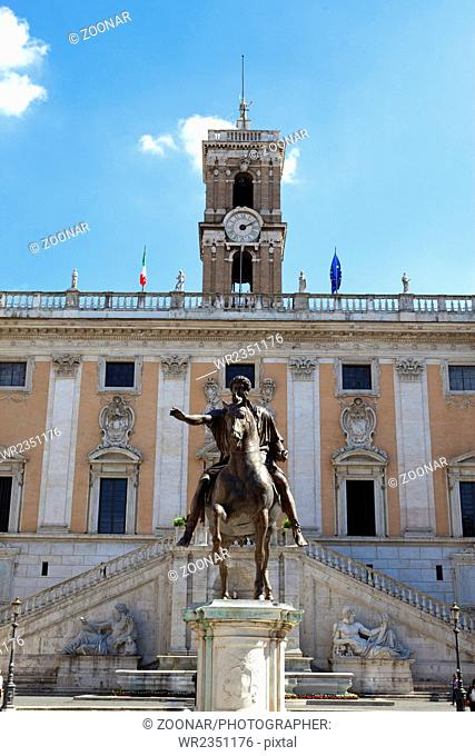 statue of Marcus Aurelius on Capitoline Hill, Rome