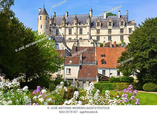 Loches, Castle, Logis Royal Castle, Chateau de Loches, Indre-et-Loire, Touraine, Pays de la Loire, Loire Valley, UNESCO World Heritage Site, France