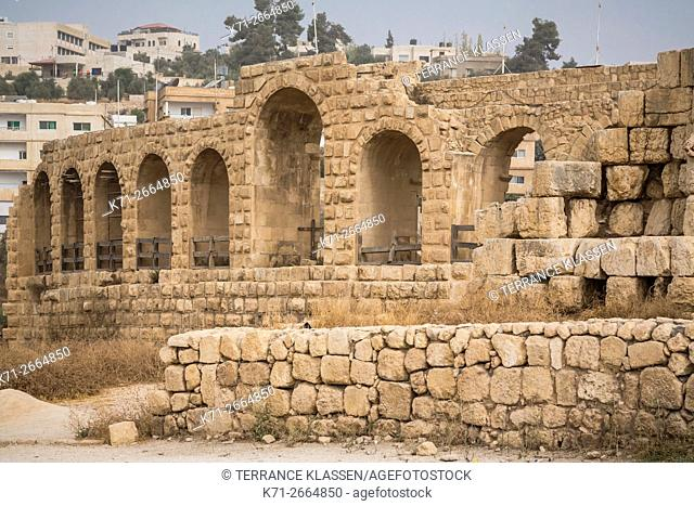 The archaeological ruins of Jerash, Hashemite Kingdom of Jordan, Middle East
