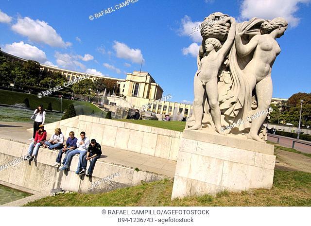Palais de Chaillot, Trocadero, Paris, France