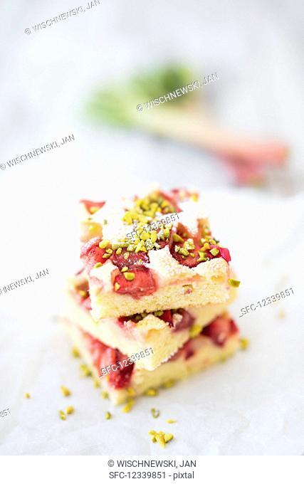 Rhubarb sheet cake