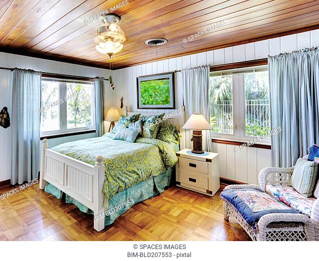 Bedroom With a Wood Ceiling