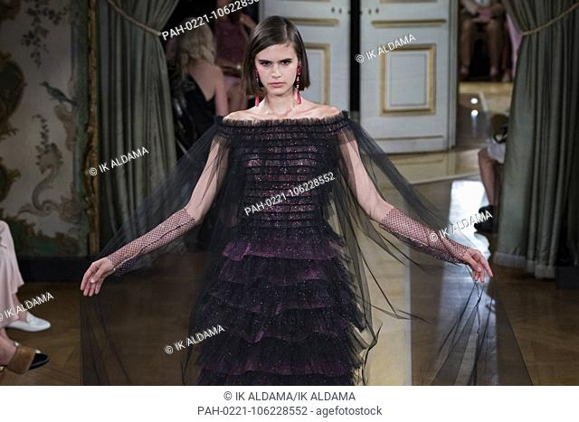 Giorgio Armani Prive runway during Haute Couture July 2018. Autumn - Winter 2018-19 Collection. Paris, France. 03/07/2018   usage worldwide