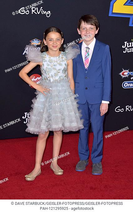 Madeleine McGraw with brother Jack McGraw at the world premiere of the movie 'A Toy Story: Everything Hears No Command / Toy Story 4' at the El Capitan Theater