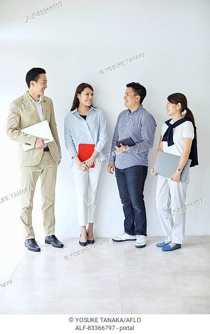 Japanese business people at work