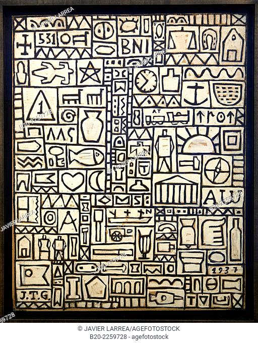 Composition universelle, 1937. Joaquin Torres-Garcia. Centre George Pompidou. Musee National d'Art Moderne. Paris. France